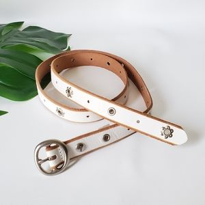 FOSSIL Beaded Leather Thin Belt